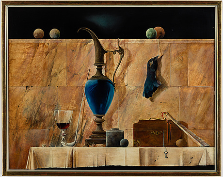 BjÖrn nyman, oil/acrylic on panel, signed and dated 1979.
