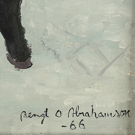 Bengt olov abrahamsson, oil on canvas, signed and dated 1966.