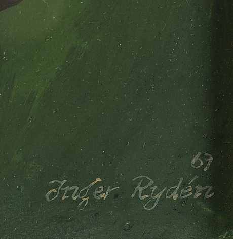 Inger rydÉn, gouache, signed and dated -67.