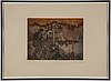 Sandro chia, etching in colours, signed 36/50.