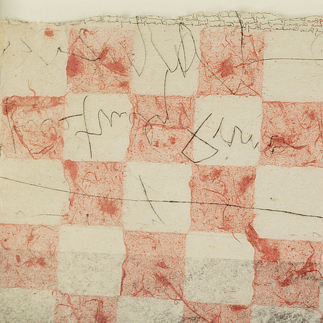 Lee jaffe, mixed media on paper, signed in pencil and indistinctly dated.