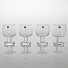 Timo sarpaneva, set of 12 drinking glasses 'jurmo' 2133 for iittala.