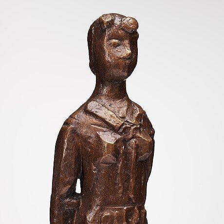Martin holmgren, bronsskulptur, signerad mh och daterad -56.