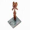 Eric grate, bronze sculpture, signed eric grate.