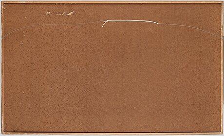 Thea ekstrÖm, blandteknik på papper lagd på pannå, signerad och daterad 9 vi 65.