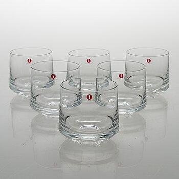 TIMO SARPANEVA, set of six 'Milano' 2042 drinking glasses for Iittala.
