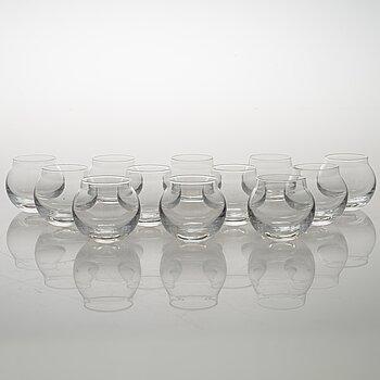 TIMO SARPANEVA, set of 12 1990's 'Pallo' (Ball) drinking glases for Iittla.