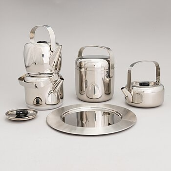TIMO SARPANEVA, 5-piece stainless steel serving dishes for Opa Ltd.