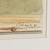 Philip von schantz, watercolour on paper, signed with pencil and dated -80.