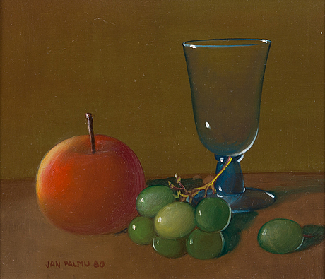Jan palmu, oil on board, signed and dated-80.