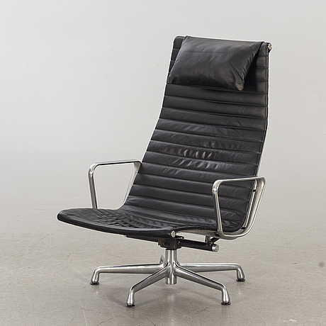 "Charles and ray eames, an ""ea-124, aluminium group"", herman miller lounge chair. usa."