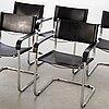 Five late 20th century italian armchairs.