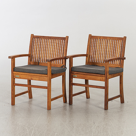 A pair of danish trip trap armchairs.