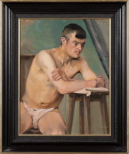 Sigrid granfelt, oil on canvas, laid on cardboard, signed.