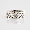 Bottega veneta, a sterling silver ring and bracelet, italy.