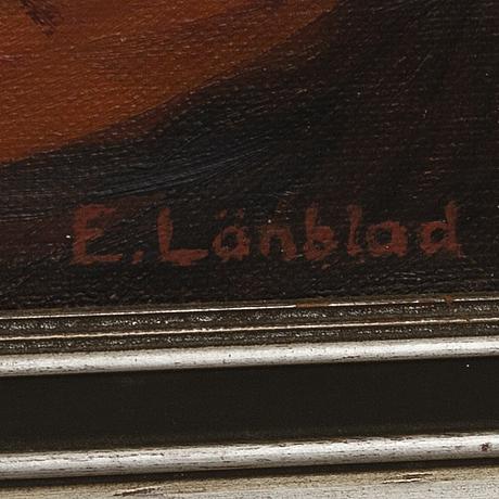Emilia lÖnblad, olja på duk, signerad.