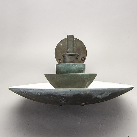 """Poul henningsen, a """"ph"""" copper wall light, louis poulsen, denmark."""
