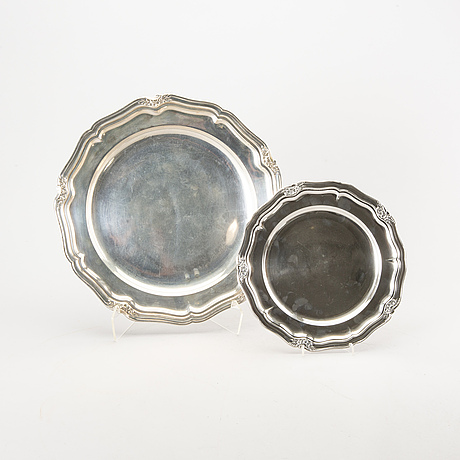 Two danish silver dishes.
