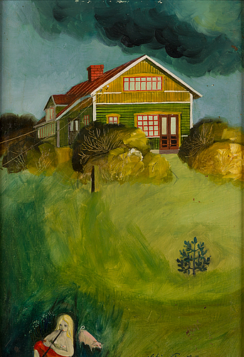 Wiking forsstrÖm, oil on board, signed and dated 1977.