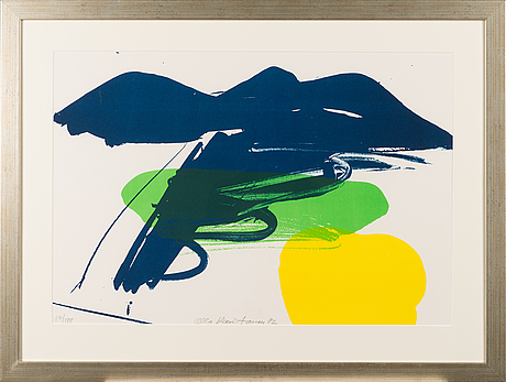 Ulla rantanen, lithograph, signed and dated -92, numbered 17/198.