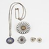 """""""daisy"""" georg jensen and a michelsen silver and enamel."""