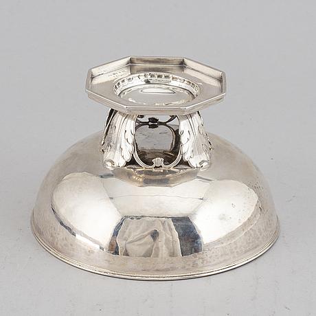 Jacob Ängman, a silver footed bowl, guldsmedsaktiebolaget, stockholm 1934.