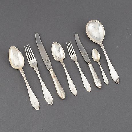 Ag dufva, a 43 pcs set of silver flatware, stockholm 1926-27.