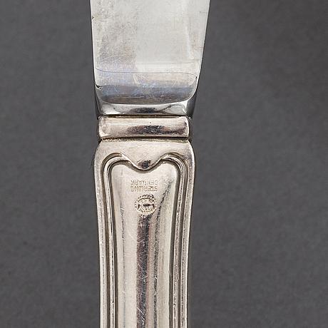 """Harald nielsen, a 49 pcs set of sterling silver """"old danish"""" flatware, georg jensen, copenhagen 1947-77."""