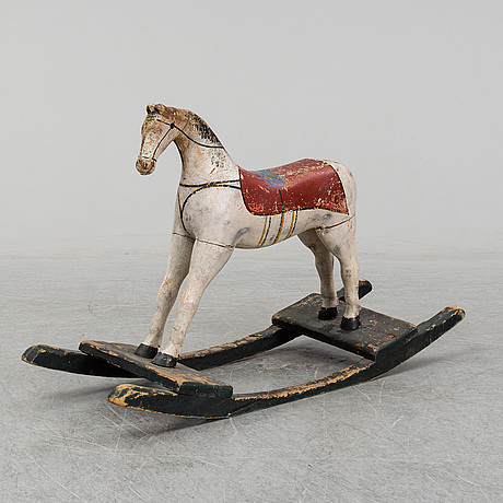 A rocking horse from the second half of the 19th century.