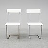 Arthur lindqvist, a pair of garden chairs, mid 20th century.