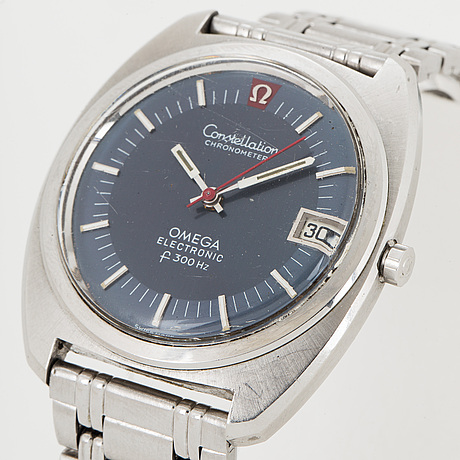 Omega, constellation chronometer electronic, wristwatch, 38 mm.
