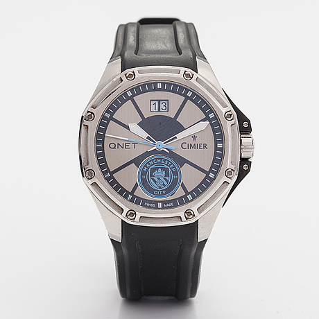 Cimier, qnetcity triumph blue, wristwatch, 45 mm.
