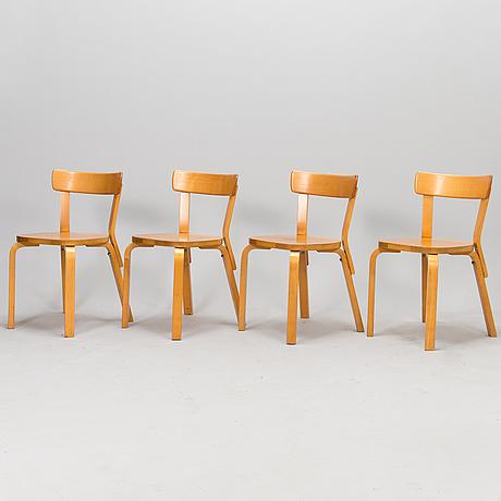 Alvar aalto, stolar, 4 st modell 69, artek 1900-talets slut.