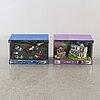 Butiks- / displaymonter, 2 st, lego city och lego friends 2000-tal.