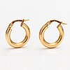 A pair of 14k gold earrings. italy.