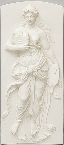 A plaster relief, first half of the 20th century.
