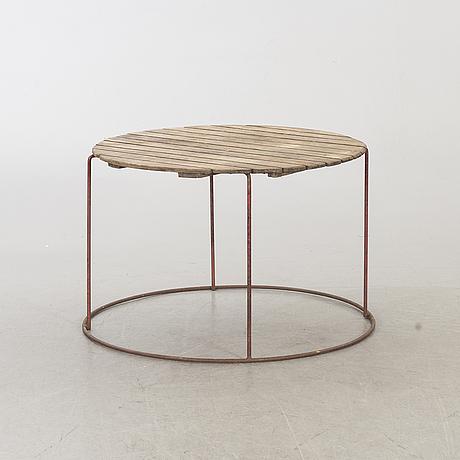 A mid 20th century garden table, bjärnum, sweden.