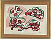 Karel appel, lithograph in colours, signed appel and numbered ea in pencil.