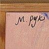 Madeleine pyk, olja på duk signerad.