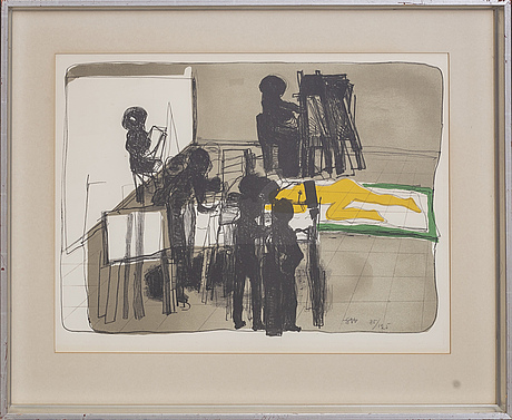 Staffan hallstrÖm, lithograph in colours signed and numbered 85/125.