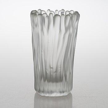 TAPIO WIRKKALA, A glass vase, 'Jäkälä' (Lichen), signed Tapio Wirkkala, Iittala 3515. 1950-64.