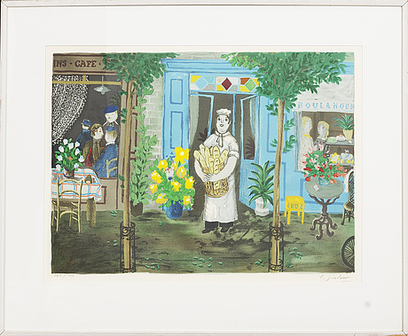Lennart jirlow, lithograph ion colours, signed 143/310.