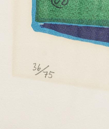 Lennart rodhe, serigrafi, signerad och numrerad 36/75,