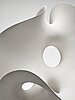"""Eva hild, a white stoneware sculpture, """"loop 649"""", sweden 2005."""