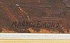 Martin emond, oil on panel signee.