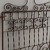 A pair 'fridhem' 1891 iron gates.