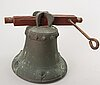 A bronze and iron bell, 19/20th century.