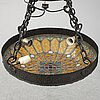 A stained glass ceiling light, first half of the 20th century.