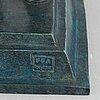 Skulptur, patinerad brons, ffa fondeur, sent 1900-tal.
