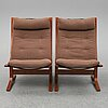 A pair of 'siesta' easy chairs by ingmar relling, designed 1965.